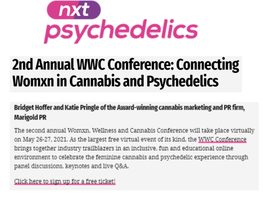 nxt Psychedelics WWC Conference 2021
