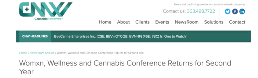 Cannabis News Wire, CNW WWC Conference 2021