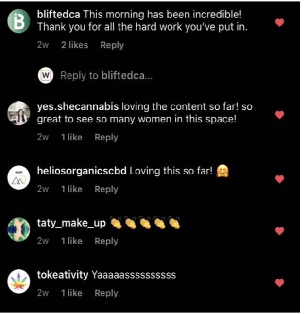 Instagram comments WWC 2021